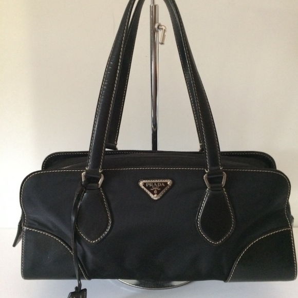 3ad91a5f9c8 Prada Bags   Leather Trim Nylon Bag   Poshmark